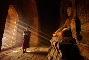 Bagan temple little monk, Feng Dawei_7